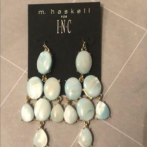 NWT M. Haskell for INC dangle light blue earrings